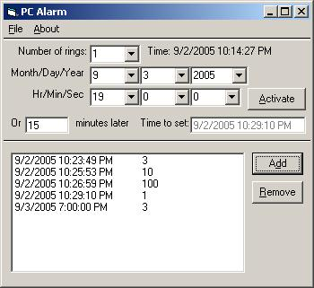 PC Alarm in Visual Basic